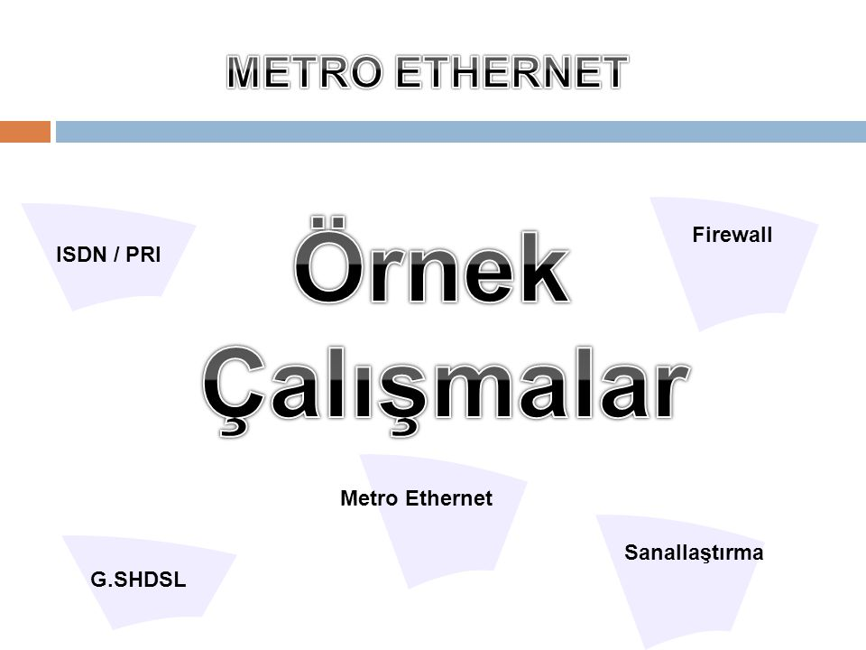 Metro Ethernet ISDN / PRI G.SHDSL Firewall Sanallaştırma