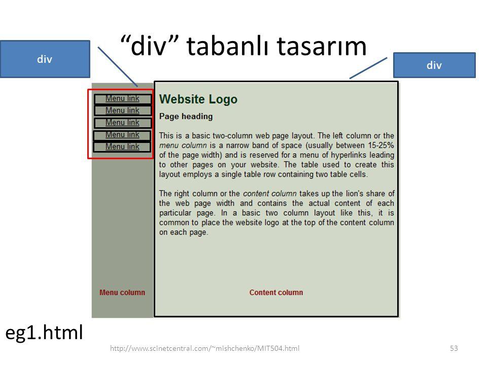 """div"" tabanlı tasarım http://www.scinetcentral.com/~mishchenko/MIT504.html53 div eg1.html"