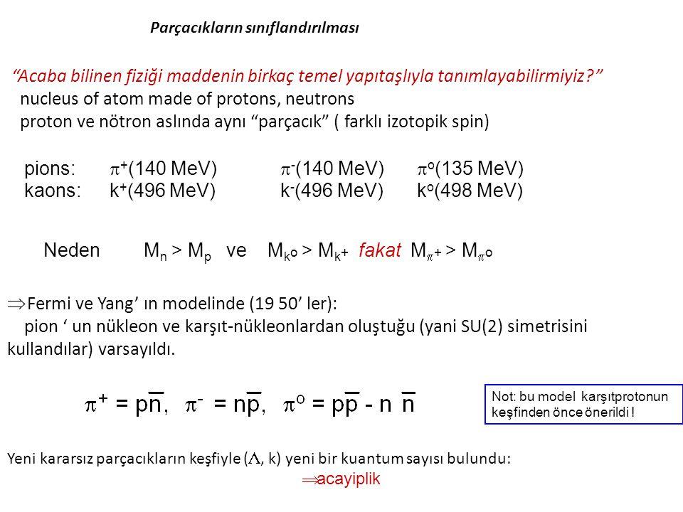 """""""Acaba bilinen fiziği maddenin birkaç temel yapıtaşlıyla tanımlayabilirmiyiz?"""" nucleus of atom made of protons, neutrons proton ve nötron aslında aynı"""