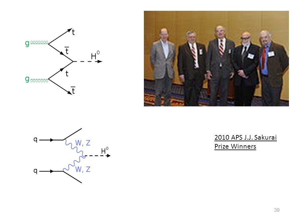 39 2010 APS J.J. Sakurai Prize Winners