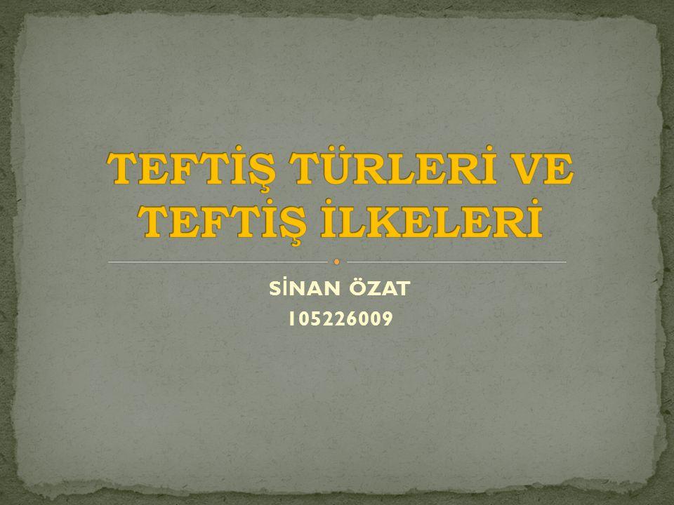 S İ NAN ÖZAT 105226009