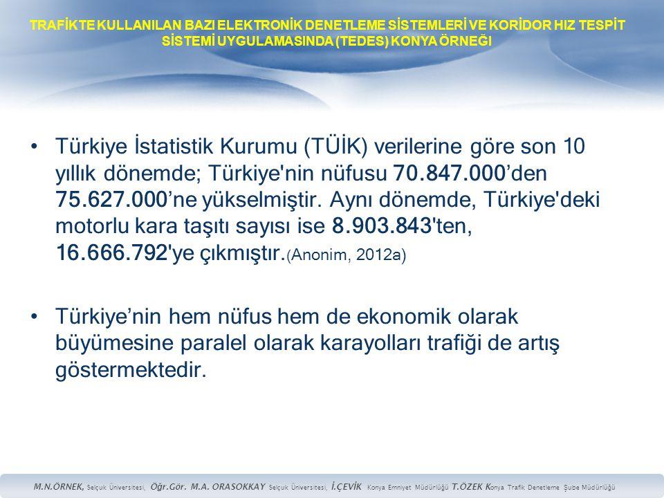 •Türkiye İstatistik Kurumu (TÜİK) verilerine göre son 10 yıllık dönemde; Türkiye'nin nüfusu 70.847.000'den 75.627.000'ne yükselmiştir. Aynı dönemde, T