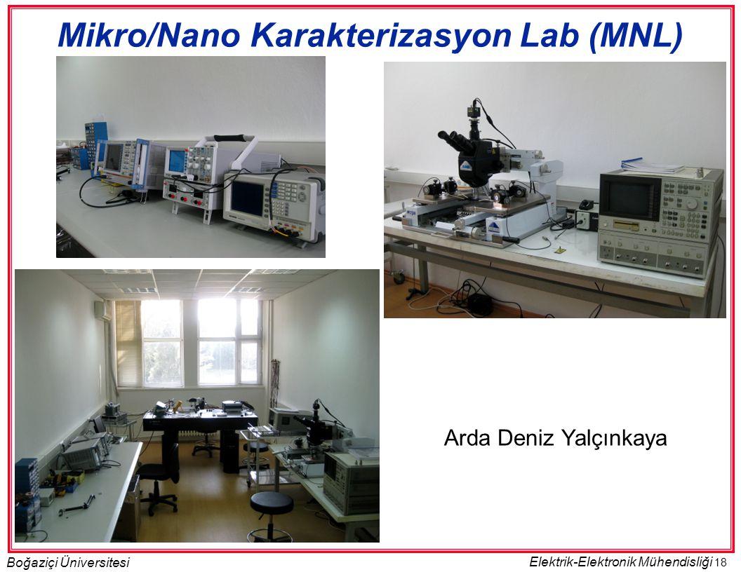 18 Boğaziçi Üniversitesi Elektrik-Elektronik Mühendisliği Mikro/Nano Karakterizasyon Lab (MNL) Arda Deniz Yalçınkaya