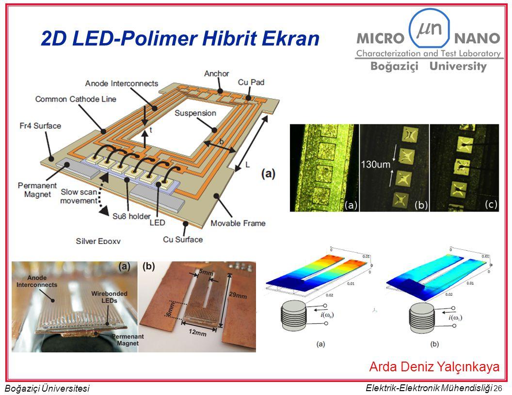 26 Boğaziçi Üniversitesi Elektrik-Elektronik Mühendisliği 2D LED-Polimer Hibrit Ekran Arda Deniz Yalçınkaya