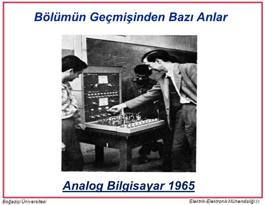 51 Boğaziçi Üniversitesi Elektrik-Elektronik Mühendisliği Analog Bilgisayar 1965 Bölümün Geçmişinden Bazı Anlar