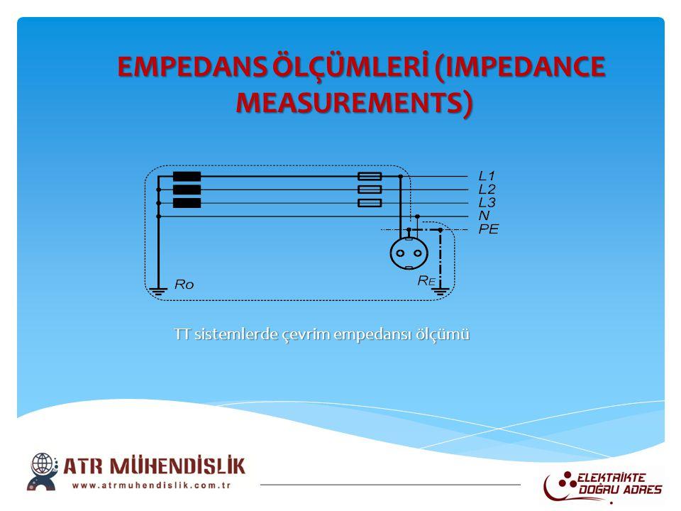 TT sistemlerde çevrim empedansı ölçümü