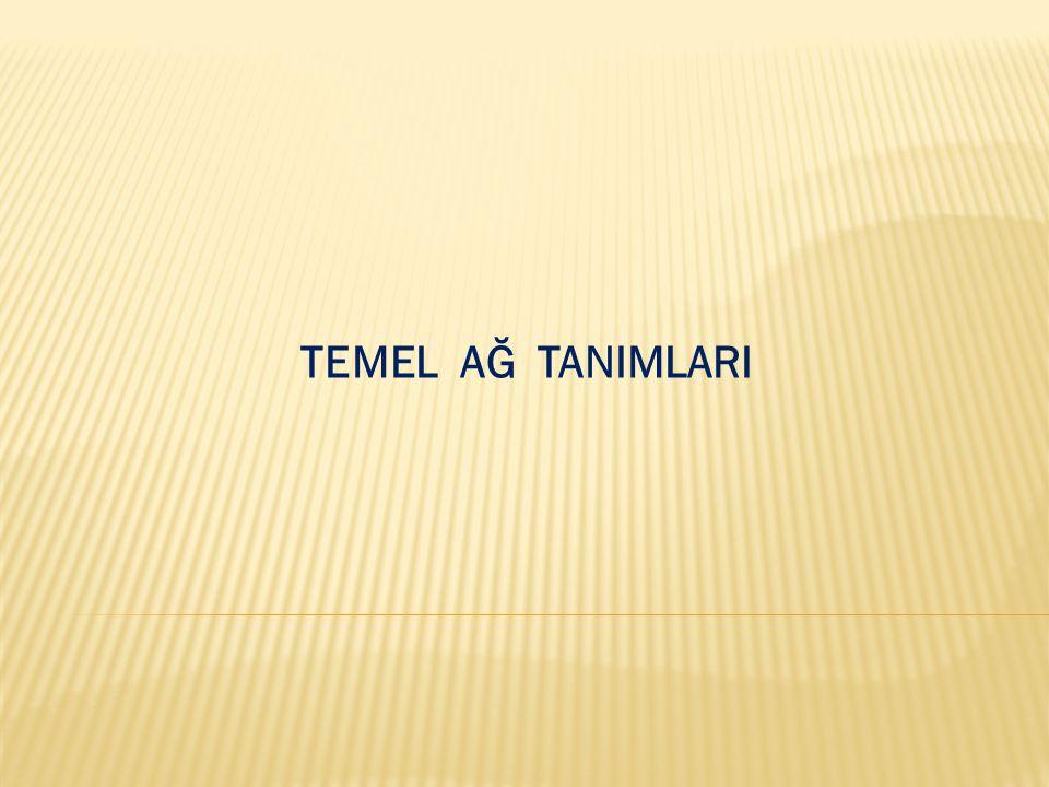TEMEL AĞ TANIMLARI