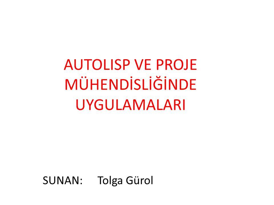 3.AUTOLISP FONKSİYONLARI Fonksiyon: Autolisp'in uygulaması için önceden belirlenmiş komutlar dizisidir.