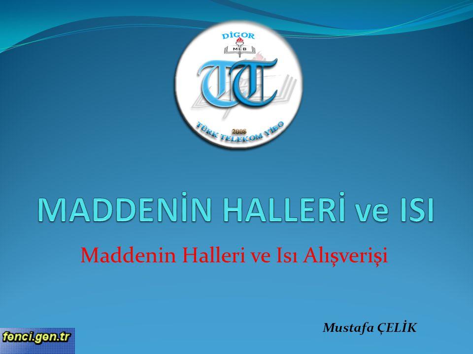 Maddenin Halleri ve Isı Alışverişi Mustafa ÇELİK