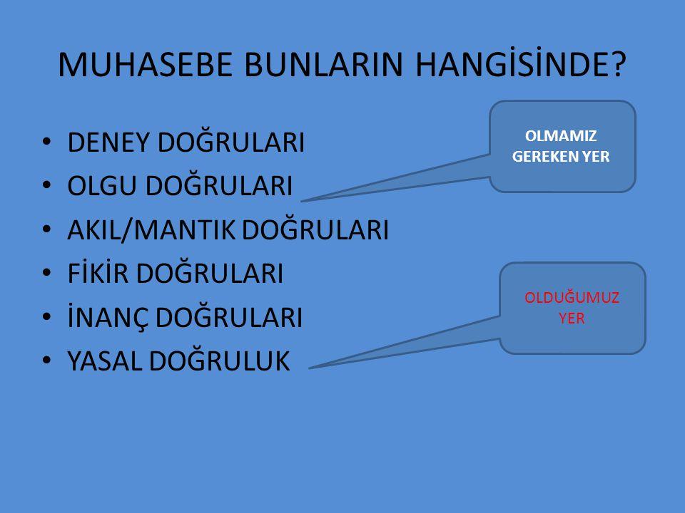 MUHASEBE BUNLARIN HANGİSİNDE.