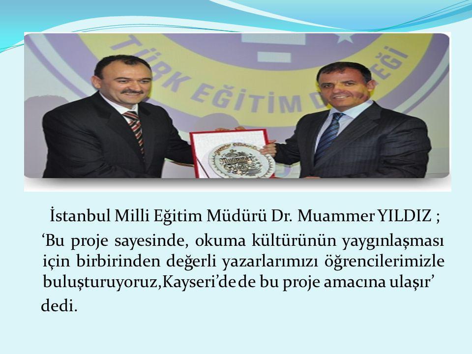 İstanbul Milli Eğitim Müdürü Dr.