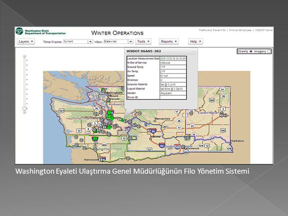 Washington Eyaleti Ulaştırma Genel Müdürlüğünün Filo Yönetim Sistemi