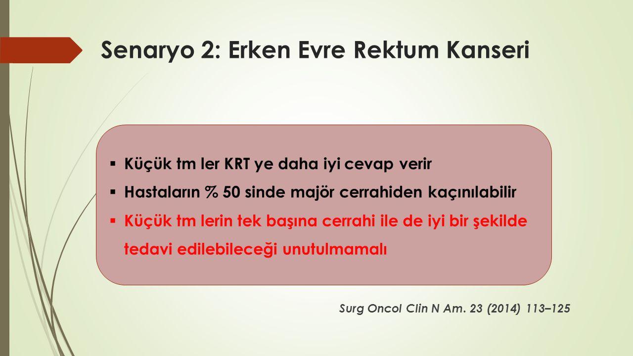 Senaryo 2: Erken Evre Rektum Kanseri Surg Oncol Clin N Am. 23 (2014) 113–125