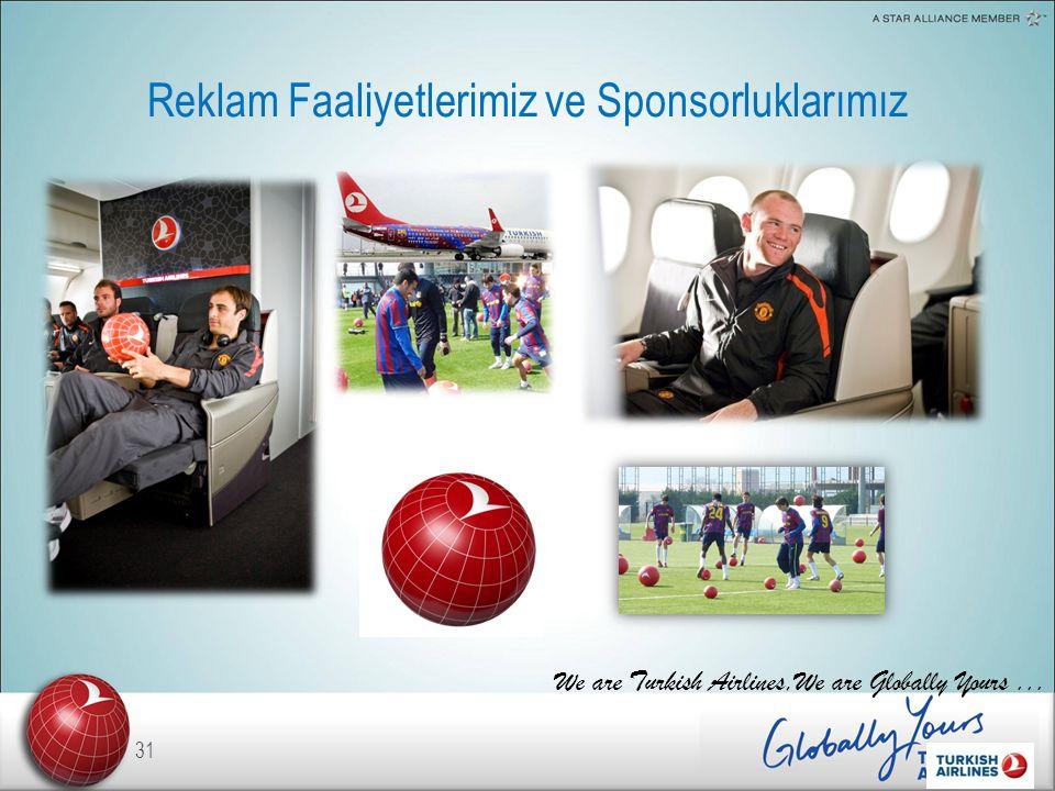 Reklam Faaliyetlerimiz ve Sponsorluklarımız 31 We are Turkish Airlines,We are Globally Yours...