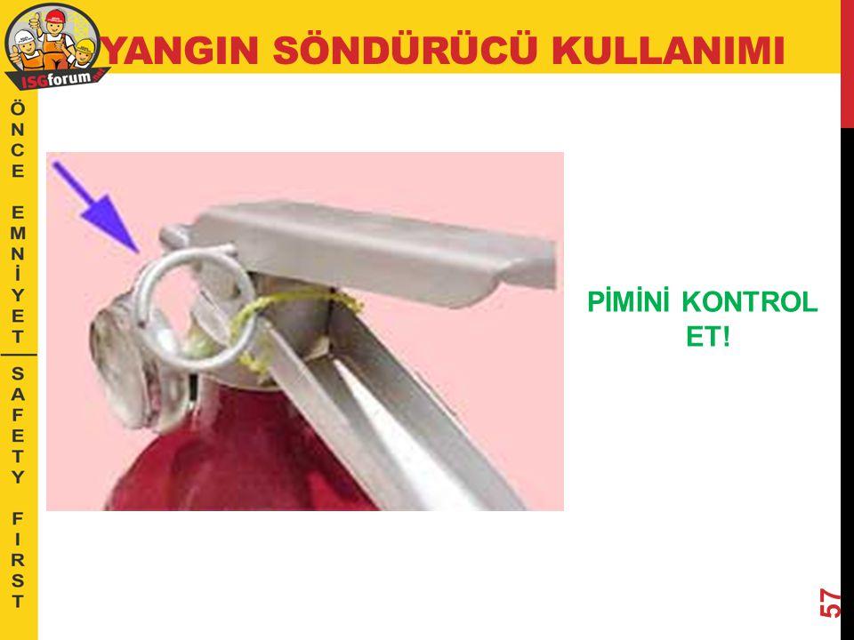 İDEAL BASINÇ; Bir söndürücü için ideal basınç göstergesi yandaki gibi yeşil alan arasındaki bölümdür.