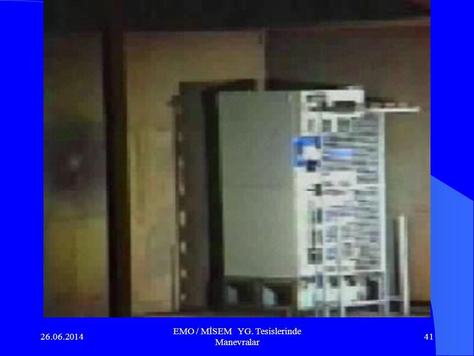 26.06.2014 EMO / MİSEM YG. Tesislerinde Manevralar 40 MC veya açık adıyla Metal Clad YG. Hücreleri henüz ülkemizde üretilmediğinden ithal edilerek kul