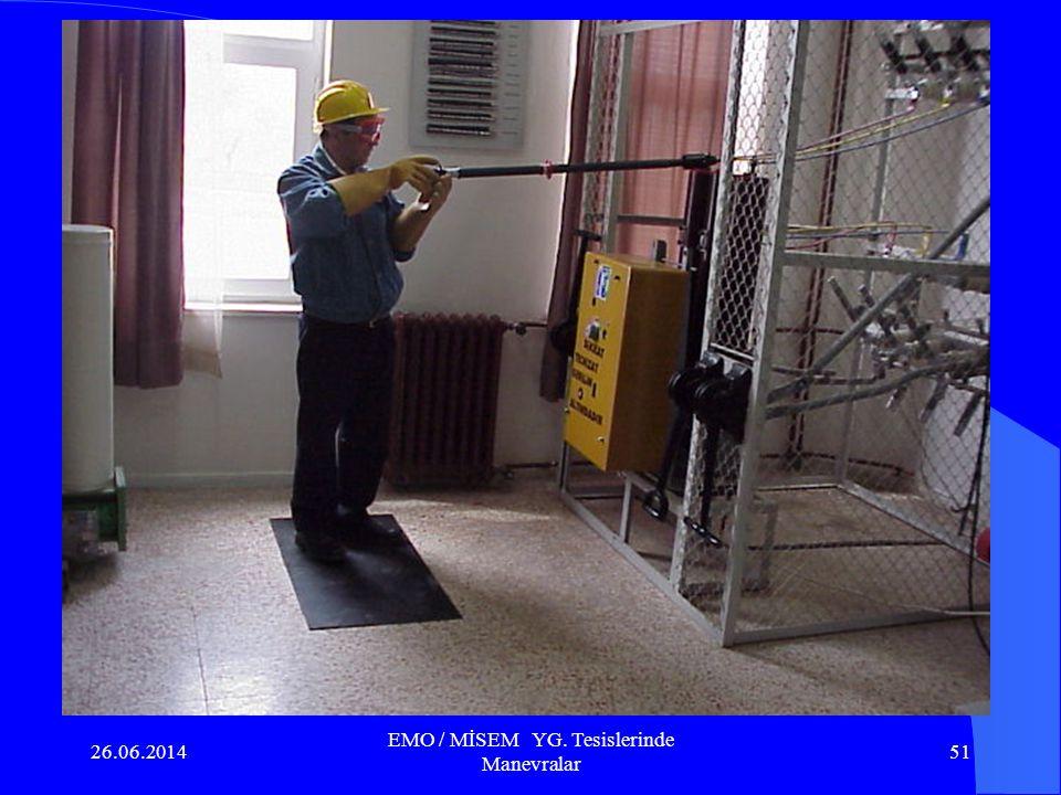 26.06.2014 EMO / MİSEM YG. Tesislerinde Manevralar 50 6.2. İşletme halindeki ayırıcı pozisyonlarının izlenmesi : a.Hava yalıtımlı Metal Mahfazalı YG.