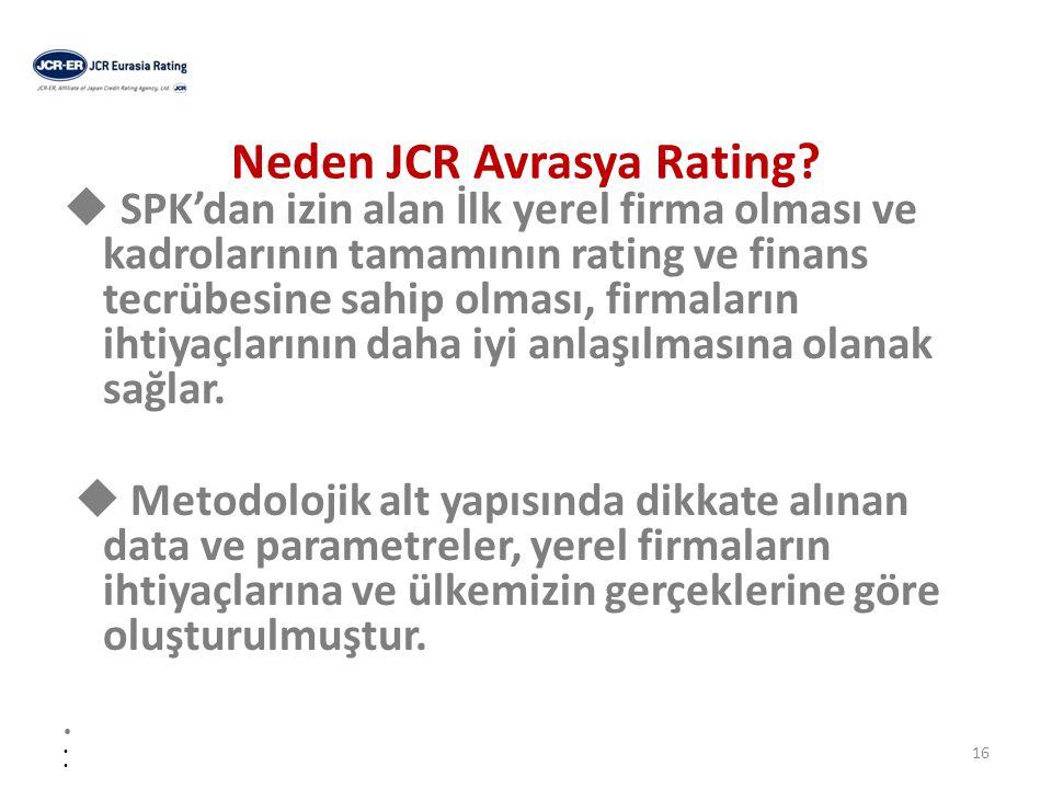 Neden JCR-Eurasia Rating.