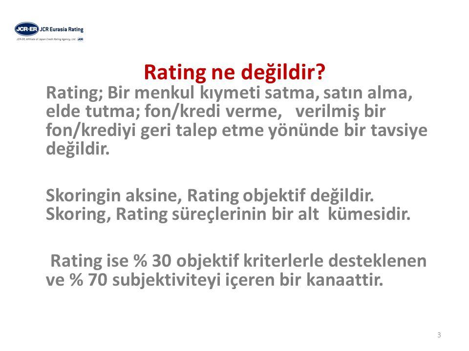 Ratingin amacı nedir.
