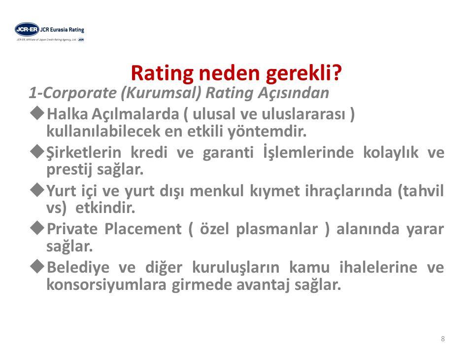 Rating neden gerekli. Şirket devir ve birleşmelerinde etkili olur.