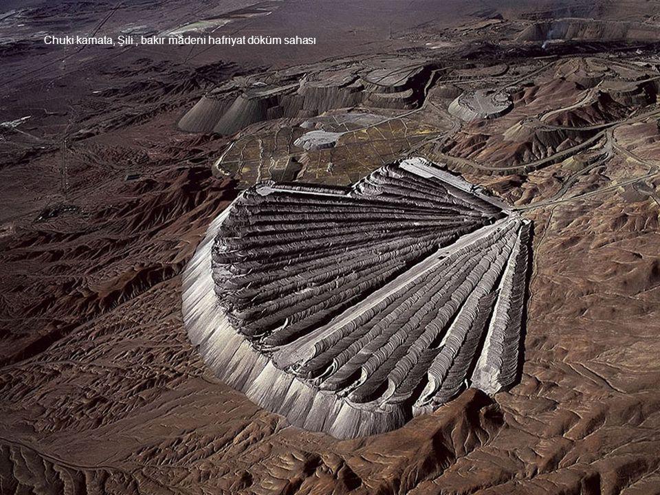 Chuki kamata, Şili, bakır madeni hafriyat döküm sahası
