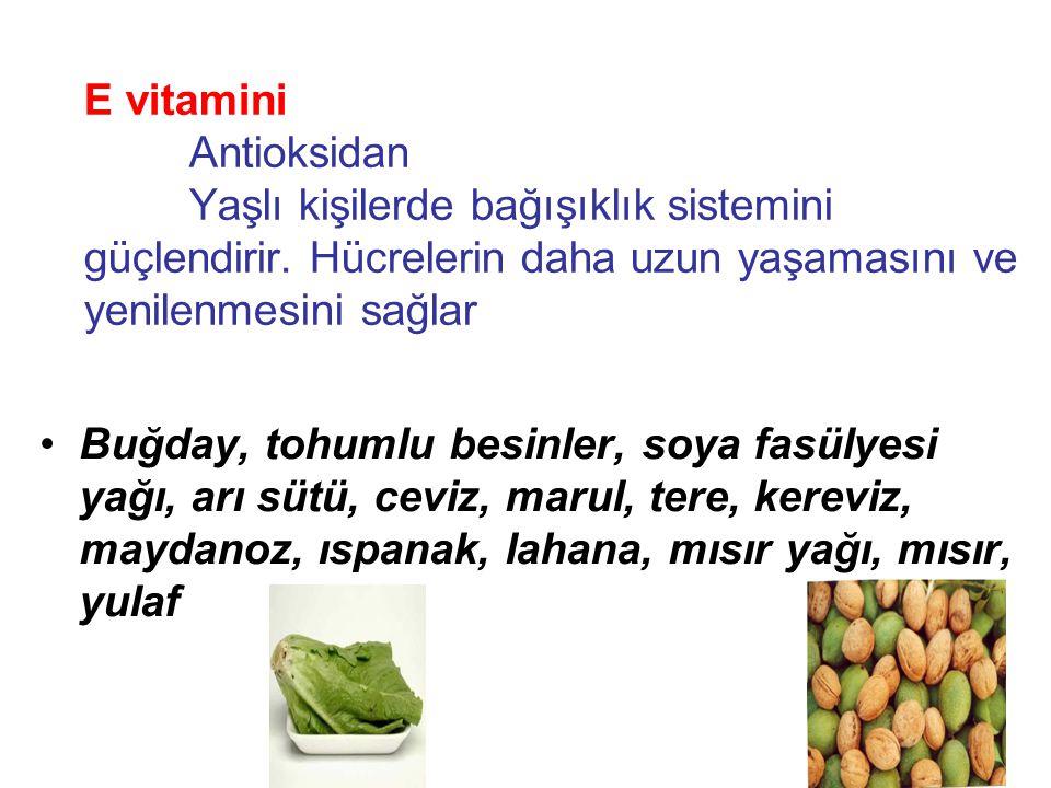 K vitamini pıhtılaşma faktörlerinin yapımında rol alır.