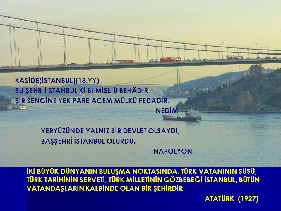 İSTANBUL RESMİ KASİDE(İSTANBUL)(18.YY) BU ŞEHR-İ STANBUL Kİ Bİ MİSL - Ü BEHÂDIR BİR SENGİNE YEK PARE ACEM MÜLKÜ FEDADIR.