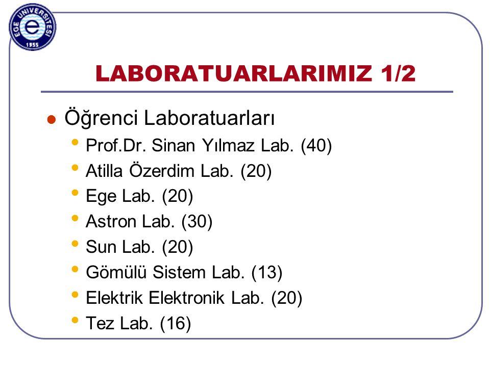 Aylin Kantarcı, 3-5.11.2003, ISCIS2003, Antalya LABORATUARLARIMIZ 2/2  Araştırma Laboratuarları • Etmen Sistemleri Lab.