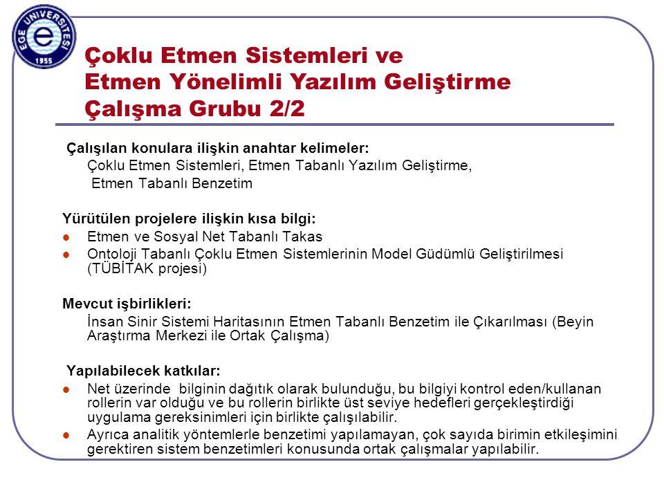 Aylin Kantarcı, 3-5.11.2003, ISCIS2003, Antalya Çevresel Zeka Çalışma Grubu 1/2 Çevresel zeka (ambient intelligence), çeşitli elektronik cihazlar (sensörler, mobil cihazlar vb) yardımıyla kullanıcılara akıllı ortamlar sağlar.