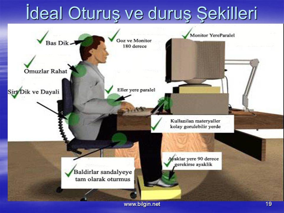 www.bilgin.net19 İdeal Oturuş ve duruş Şekilleri