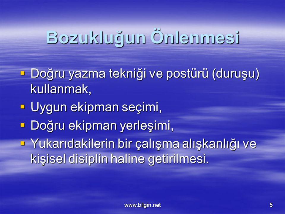 www.bilgin.net6 POSTÜR
