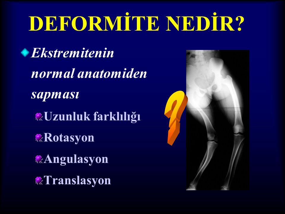 TİBİADA EKSENLER •Tibianın anatomik aksı, mekanik aksın hafifçe medialindedir.