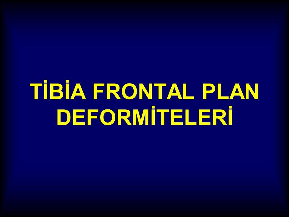 •Proksimal femur ve distal tibiadaki açılar ölçülür •Femur veya tibiada deformite varsa, ekleme yakın olan segmentin anatomik aksı ölçüm için kullanıl