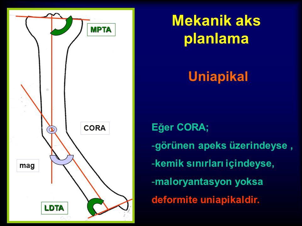 Mekanik aks planlama Uniapikal? Multiapikal? 3. CORA'lar ve büyüklükleri LDTA MPTA CORA mag