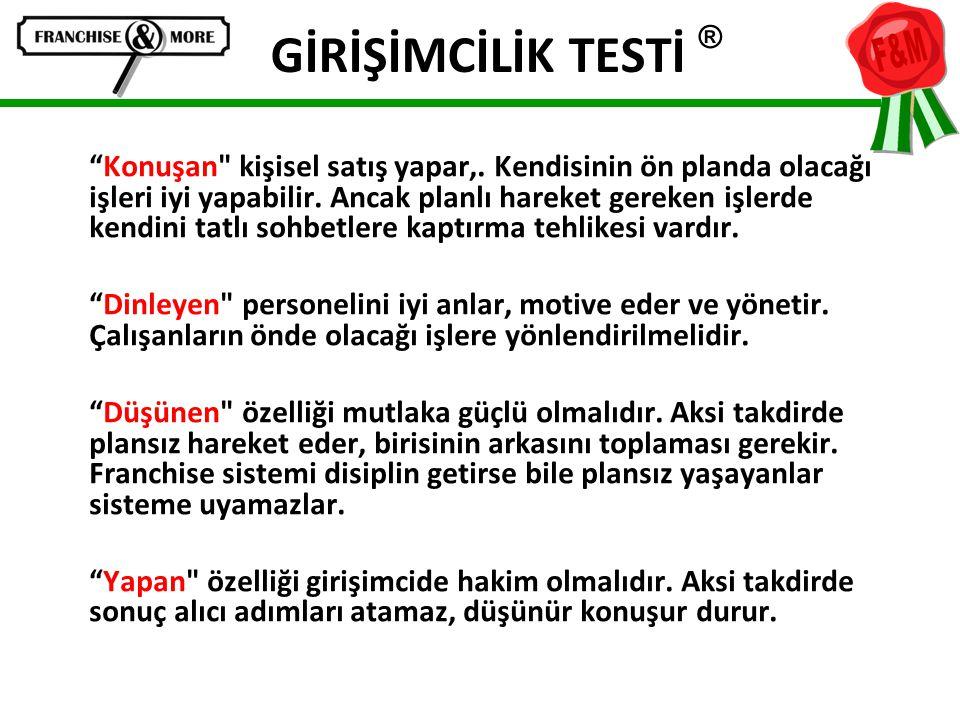 """GİRİŞİMCİLİK TESTİ ® """"Konuşan"""