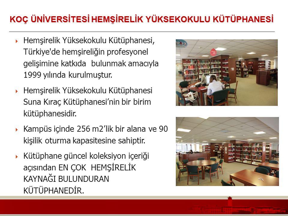 Koç Üniversitesi – Mühendislik Fakültesi  Hemşirelik Yüksekokulu Kütüphanesi, Türkiye'de hemşireliğin profesyonel gelişimine katkıda bulunmak amacıyl