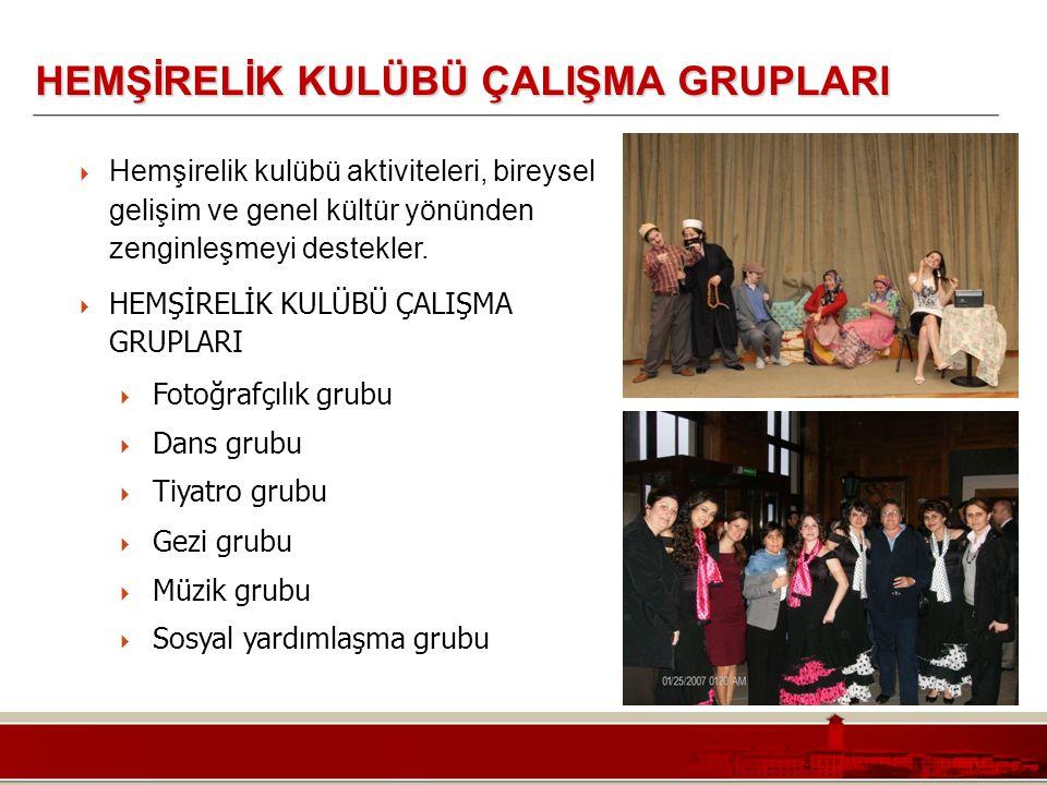 Koç Üniversitesi – Mühendislik Fakültesi HEMŞİRELİK KULÜBÜ ÇALIŞMA GRUPLARI  Hemşirelik kulübü aktiviteleri, bireysel gelişim ve genel kültür yönünde