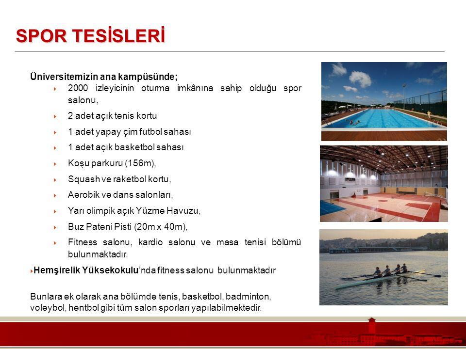Koç Üniversitesi – Mühendislik Fakültesi SPOR TESİSLERİ Üniversitemizin ana kampüsünde;  2000 izleyicinin oturma imkânına sahip olduğu spor salonu, 