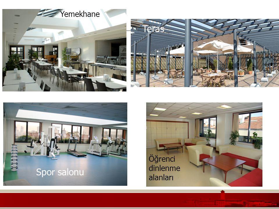 Koç Üniversitesi – Mühendislik Fakültesi Öğrenci dinlenme alanları Yemekhane Spor salonu Teras