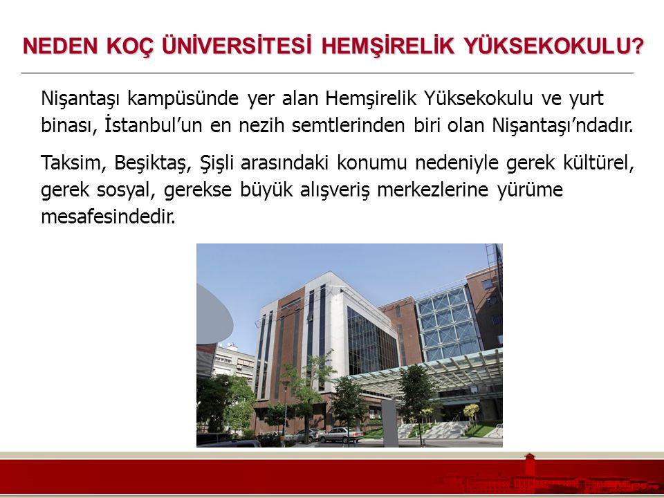 Koç Üniversitesi – Mühendislik Fakültesi Nişantaşı kampüsünde yer alan Hemşirelik Yüksekokulu ve yurt binası, İstanbul'un en nezih semtlerinden biri o