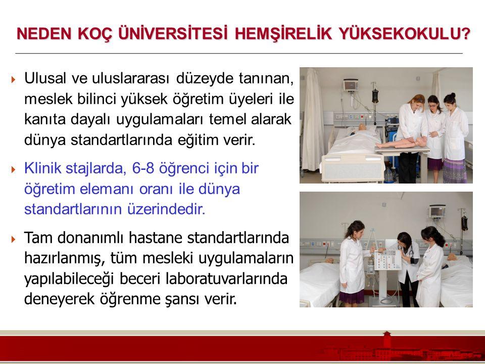 Koç Üniversitesi – Mühendislik Fakültesi  Ulusal ve uluslararası düzeyde tanınan, meslek bilinci yüksek öğretim üyeleri ile kanıta dayalı uygulamalar