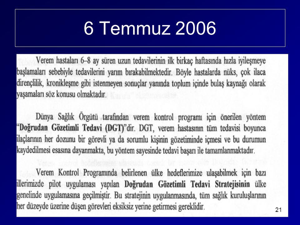 6 Temmuz 2006 21