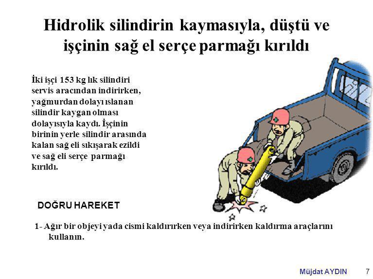 Müjdat AYDIN38 Ramak Kala Kazası Bir işçi matkapta plakaya delik açma işlemi yapıyordu.