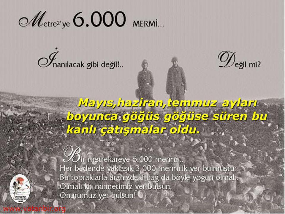 9-20 Ağustos'taki büyük saldırı ve geri püskürtülmeden sonra düşman Çanakkale'yi karadan da geçemeyeceğini anladı.Kasım 1915'ten itibaren savaşı sona erdirmeye karar verdi.