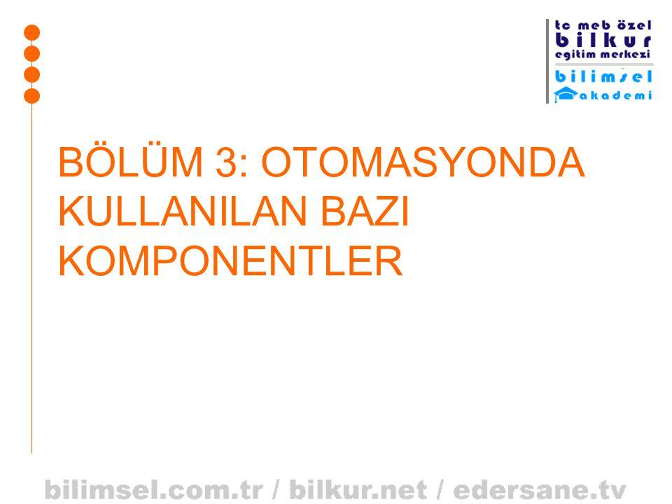 BÖLÜM 3: OTOMASYONDA KULLANILAN BAZI KOMPONENTLER
