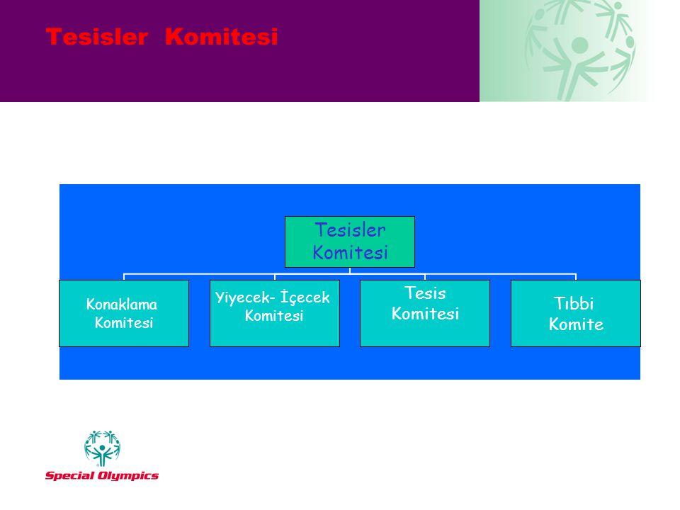 Tesisler Komitesi Konaklama Komitesi Yiyecek- İçecek Komitesi Tesis Komitesi Tıbbi Komite