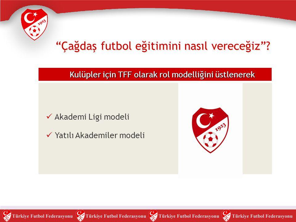 """""""Çağdaş futbol eğitimini nasıl vereceğiz""""? Kulüpler için TFF olarak rol modelliğini üstlenerek  Akademi Ligi modeli  Yatılı Akademiler modeli"""