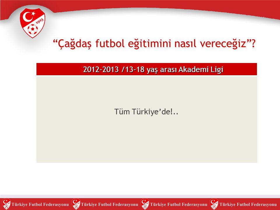 """Tüm Türkiye'de!.. """"Çağdaş futbol eğitimini nasıl vereceğiz""""? 2012-2013 /13-18 yaş arası Akademi Ligi"""