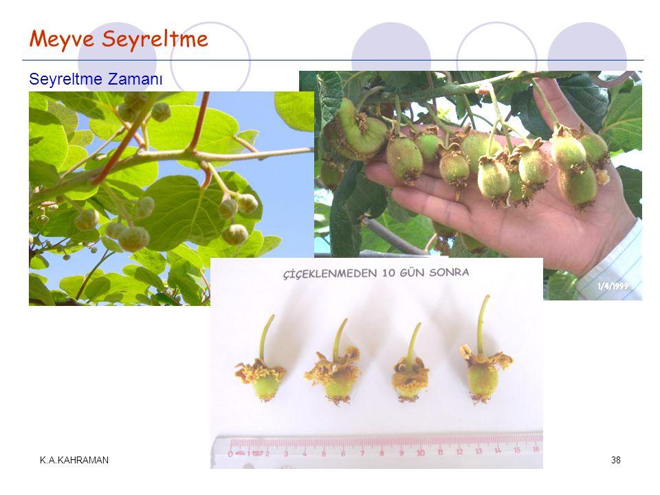 K.A.KAHRAMAN38 Meyve Seyreltme Seyreltme Zamanı