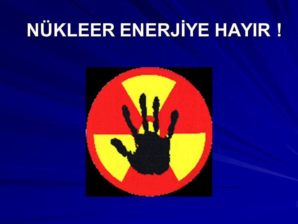 NÜKLEER ENERJİYE HAYIR !